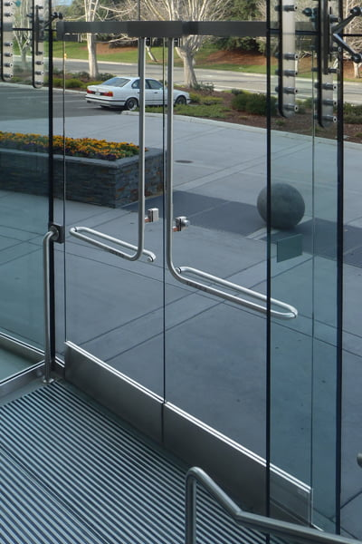 glass door panic systems