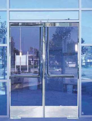 Glass Door Panic System Pl 100 Top Latching Panic Device