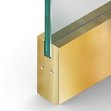 Dry Set Door Rail Square Polished Brass
