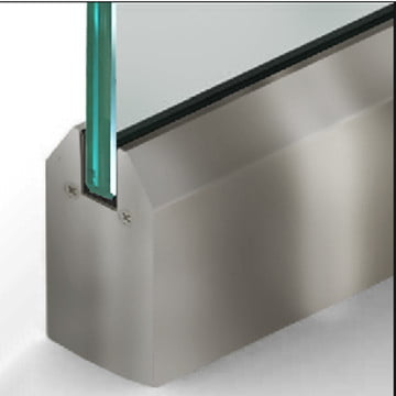 Dry Set Door Rail Tapered Clear Anodize