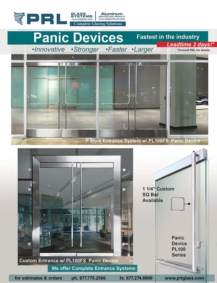All Glass Fire Exit Doors