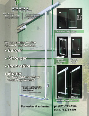 Glass Door Exit Device