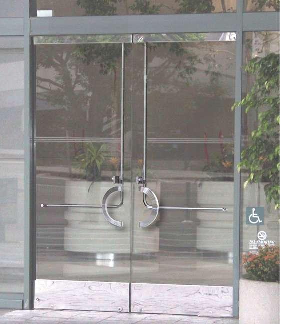 Glass Door Panic System Pl 100 Top Latching Panic Device Prl Glass Door Panic System