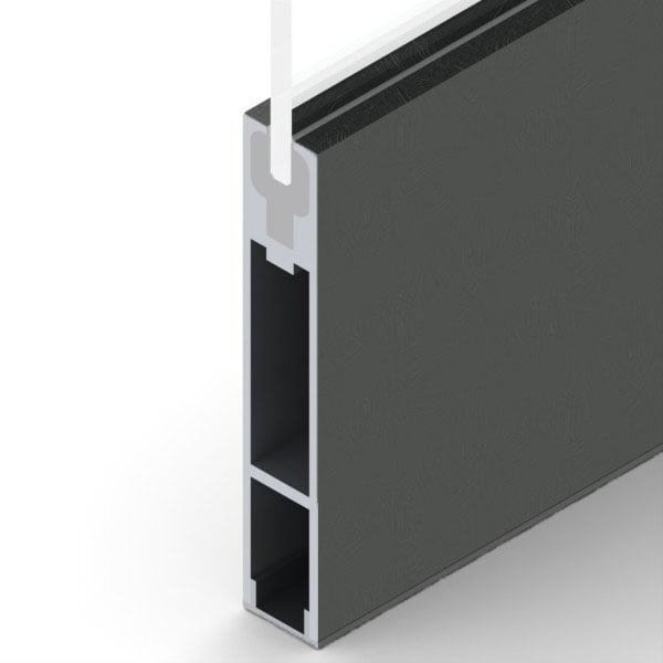 Pl1000dssb pl 1000 dry set door rails prl glass door for 1000 door