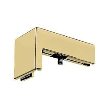 TVS 90 Degree Sidelite Transom Pivot Bracket Satin Brass