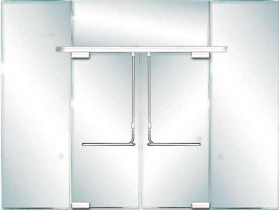 Custom Glass Panic Door Header Prl Glass Door Panic System