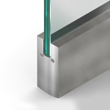 Wet Set Door Rail Square Clear Anodize