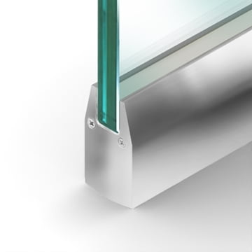 Wet Set Door Rail Tapered Polished Stainless Steel
