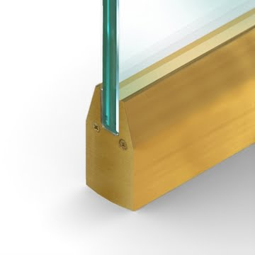 Wet Set Door Rail Tapered Satin Brass